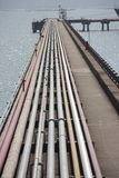 The Oil pipeline. Through the pipeline,Crude oil is sent to refineries Royalty Free Stock Photography