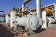 Oil pipeline Stock Image