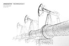 Oil pipeline low poly business concept. Finance economy polygonal petrol production. Petroleum fuel industry. Transportation line connection dots white vector vector illustration