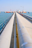 Oil Pipeline  at the pier Royalty Free Stock Photos