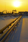 Oil pipeline Royalty Free Stock Image