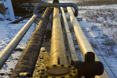 Oil pipeline Royalty Free Stock Images