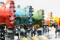 Oil pipeline of tanker Stock Photos