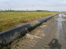 Oil pipeline technology. And construction ecology environment gas industry mining oil pipeline technology Stock Images