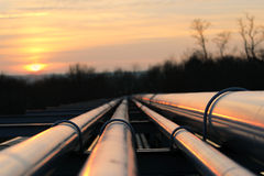 Oil pipeline transportation way  on african continent Royalty Free Stock Photo