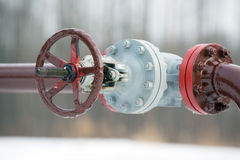 Oil Pipeline Valve Royalty Free Stock Image
