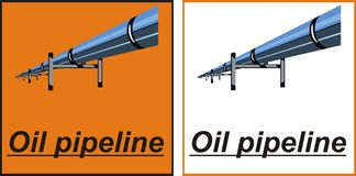 Oil pipeline. Vector. Icons. Orange, black and white colors Stock Images