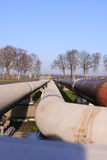 Oil pipelines Royalty Free Stock Photos
