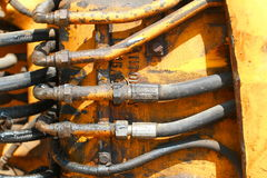 Oil Pipes Stock Photography