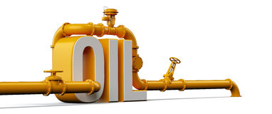 Oil pipes Royalty Free Stock Photos