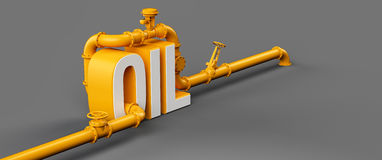 Oil pipes Royalty Free Stock Photography
