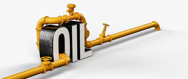 Oil pipes Stock Photos