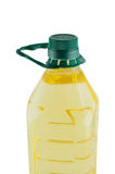 Oil in plastic bottle isolated. Royalty Free Stock Photos