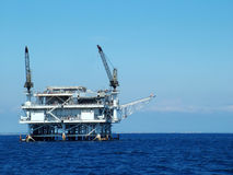 Oil Platform. Close up of Oil Platform off California Coast Stock Photos