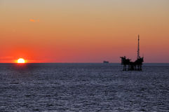 Oil Platform. Pic of an Oil Platform at Galveston Texas Royalty Free Stock Image