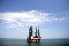 Oil platform. An oil platform at the sea Royalty Free Stock Photo