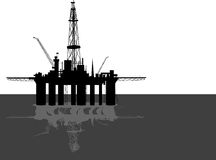 Oil platform. vector illustration