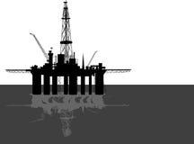 Oil platform. Royalty Free Stock Photos