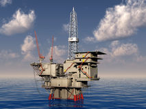 Oil platform. The oil platform on the sea Royalty Free Stock Image