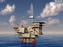 Oil platform Royalty Free Stock Image