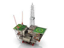 The oil platform. On white background Royalty Free Stock Images