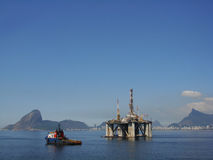 Oil Platform 25. Oil Drilling Platform at Guanabara Bay - Rio de Janeiro Stock Images