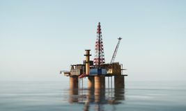 Oil platform. In the sea Royalty Free Stock Photo