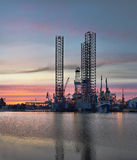 Oil Platform Royalty Free Stock Images