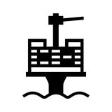 Oil platform royalty free illustration