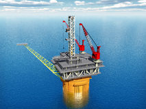 Oil Platform Royalty Free Stock Photos