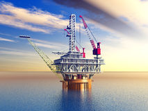 Oil Platform Royalty Free Stock Image