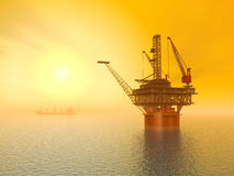 Oil Platform Stock Photos