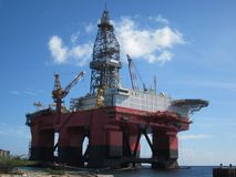 Oil platform in Curaçao Royalty Free Stock Images