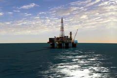 Oil platform. Extraction of oil from oil platform vector illustration