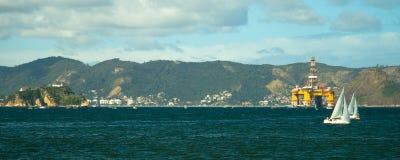 Marine Petroleum Platform in Guanabara Bay Royalty Free Stock Photos