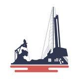 Oil platform icon Royalty Free Stock Photos