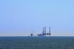 Marine Oil platform. Summer seascape Stock Images