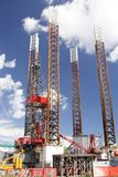 Oil platform offshore. For repairs, in Constanta shipyards, Romania Royalty Free Stock Photos