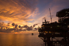 Oil platform Royalty Free Stock Photos