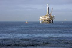 Oil platform in the Pacific Ocean Stock Photos