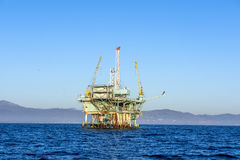 Oil Platform in the Pacific Ocean Royalty Free Stock Image