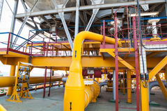 Free Oil Platform Pipeline And Pressure Transfer System Royalty Free Stock Photography - 83639957