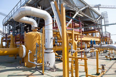 Free Oil Platform Pipeline And Pressure Transfer System Royalty Free Stock Image - 83640146