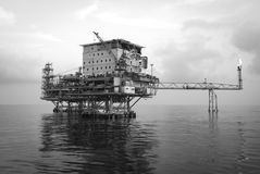 Oil platform Stock Images