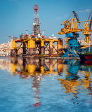 Oil platform in repair royalty free stock photos