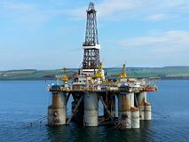 Oil platform in Scotland. Stock Photos
