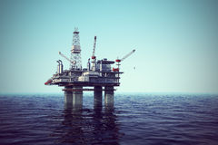 Oil platform on sea. Stock Image