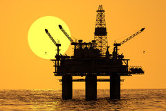 Oil platform on sea. Stock Photo