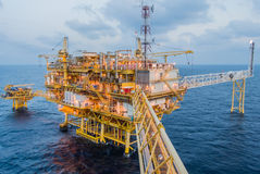 Oil platform. On the sea Royalty Free Stock Images