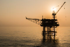 Oil platform. On the sea Stock Image